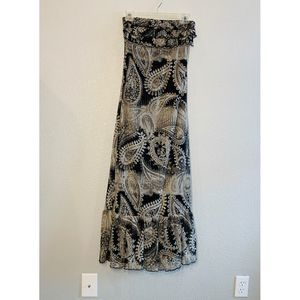 Eyelash Couture Paisley Strapless Dress